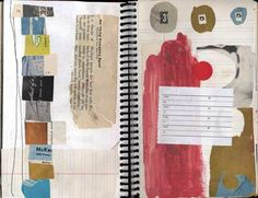 start a small notebook for a daily collage - just for play and experiment - spend 10 minutes daily in collage journal