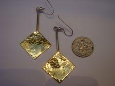 Hammered Silver & 22 carat Gold Vermeil Earrings. €135.00, via Etsy.