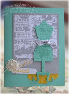Love to Make Cards: Shop Around & Dress framelit