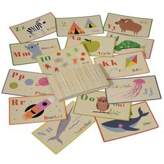 Set Of 36 Alphabet And Number Flash Cards from Rex London - the new name for dotcomgiftshop. Great value gifts and homeware in original designs. Alphabet, Kite, Little Ones, Numbers, Great Gifts, Playing Cards, Rock, Learning, Games