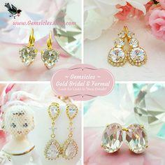 Pearl CZ Teardrop Earrings Swarovski White Teardrop Crystal