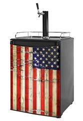 Kegerator Skin - Painted Faded and Cracked USA American Flag (fits medium sized dorm fridge and kegerators) Painting Appliances, Dorm Fridge, Skin Paint, Outdoor Furniture, Outdoor Decor, Furniture Makeover, American Flag, College Life, Usa