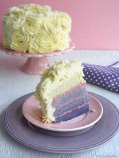Rose ombre layer cake with vanilla bean & raspberry buttercream