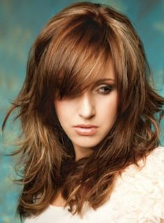 Startling Tricks: Women Hairstyles For Round Faces Medium feathered hairstyles bangs.Older Women Hairstyles Eyebrows women hairstyles over 50 bangs.Women Hairstyles With Bangs Colour. Layered Hair With Bangs, Long Hair With Bangs, Long Layered Hair, Short Bangs, Thick Hair, Wavy Hair, Shoulder Length Layered Hair, Layered Cuts, Straight Hair
