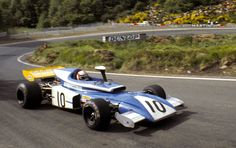 Rolf Stommelen exits the hairpin in his Eifelland-March 721, French Grand Prix, Clermont Ferrand, July 4, 1972