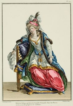 Costume of the Sultana used in the Comédie Française in the Plays where there is a role for this Costume. (1779)