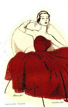 vintage fashion illustration  http://www.pinterest.com/adisavoiaditrev/