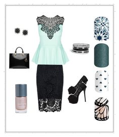 Turquoise splash by renee-eason on Polyvore featuring City Chic, Quiz, Karl Lagerfeld, Mark Broumand and GUESS