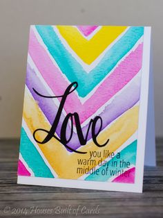 So pretty, Heather!  Using Avery Elle Simply Said: Love stamps and dies