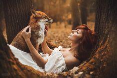 Redhead and fox... - photo: Marketa Novak  model: Katka Konečná