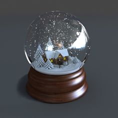 H/&H Novelty Personalised Christmas Snow Globe Named Bauble Choice of Names