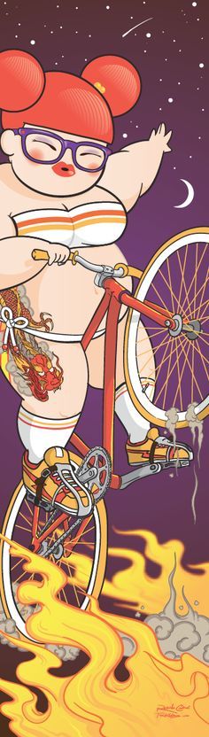 Cosmic Wheelie by Rubens Cantuni, via Behance - I don't know what this is, but I really like it.