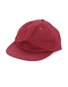 Brooks Brothers Red Fleece Oxford Cotton Baseball Hat Men's Red