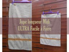 ULTRA facile à faire : Jupe longueur Midi Bettinael.Passion.Couture.Made in france