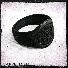 Carpe Diem Black Mens Rings Ring Wedding by carpediemjewellery, $45.00