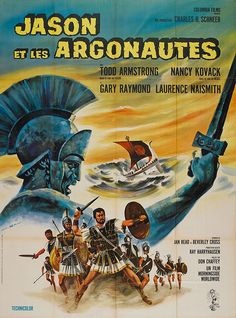 """French grande for JASON AND THE ARGONAUTS (Don Chaffey, USA/UK, 1963) Artist: """"Ch. Rau"""" Poster source: Heritage Auctions RIP Ray Harryhausen (1920-2013)"""