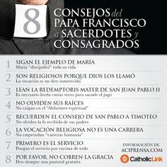 Biblioteca de Catholic-Link - Infografía: 8 consejos del Papa Francisco a...