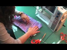 Textiles technique-Slashing - YouTube. This is really chenille done with scraps. Wonderful. Sew the lines on the bias so that the outside fabric will fray minimally, instead of completely fraying away over time. Cut through all layers but the very bottom layer. myb