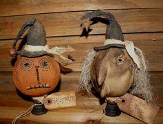 My Primitive Halloween Jack and Olde Hag Make-do pattern
