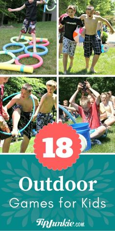 18 Outdoor Activities with Kids Perfect for Summer - Activities for teens Team Games For Kids, Camping Games For Adults, Outdoor Activities For Kids, Camping Ideas, Water Games For Kids, Camping Essentials, Vbs Outdoor Games, Kids Camp Games, Outdoor Summer Games