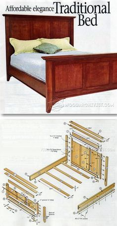 Traditional Bed Plans - Furniture Plans and Projects | http://WoodArchivist.com