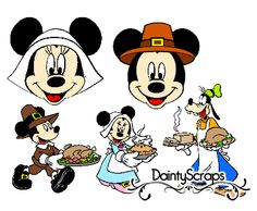 Disney Thanksgiving www.DaintyScraps.com Disney SVG