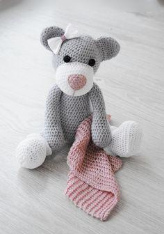 Stefka - szara z rózowym kocykiem (sprzedawca: Lollipop), do kupienia w DecoBazaar.com