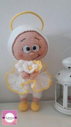 Angioletto amigurumi, Angel amigurumi fatto a mano, lana, crochet, uncinetto di LivreaHandmade su Etsy