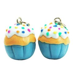 Miniature Cupcake Polymer Clay Foods Supplies for Beaded Charm. Cute!
