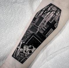Black Tattoo Artists Tattoo Ideas - Black tattoo artists & schwarze tätowierer & artistes de tatouage noir & a - Goth Tattoo, Tatto Ink, Skull Tattoos, Leg Tattoos, Black Tattoos, Body Art Tattoos, Black Work Tattoo, Tatoos, Pretty Tattoos