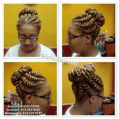 Twisted up bun
