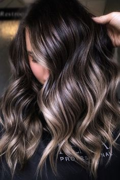 Hair Color Streaks, Hair Color Highlights, Ombre Hair Color, Hair Color For Black Hair, Hair Color Balayage, Bayalage, Blonde Balayage, Dark Brunette Hair, Dark Hair