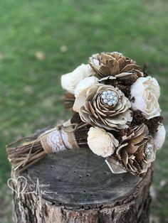 Rustic Brown & Ivory Sola Bouquet Sola Flower Bouquet