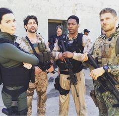 Season Three Behind the scenes!!!  Bridget Regan, Bren Foster, Jocko Sims, and Travis Van Winkle.    The Last Ship (Danny's ring is showing!!!)