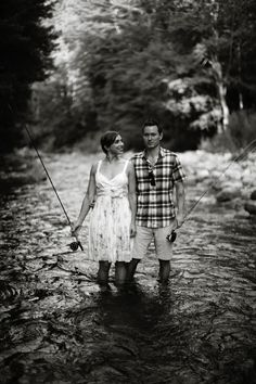 Fly fishing engagement session... for the future... haha