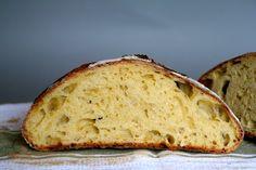 Eltefritt brød med egg og melk No Knead Bread, Bread Recipes, Banana Bread, Eggs, Desserts, Drink, Loaf Recipes, Soda, Egg