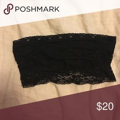 Black free people bandou Black lace. Perfect for underneath flowy tops. BARELY WORN Free People Intimates & Sleepwear Bandeaus