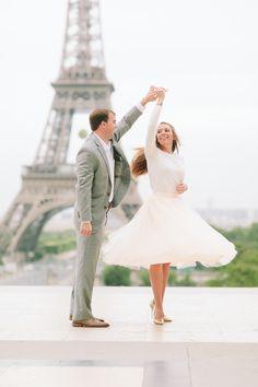 engagement photo, tulle skirt, Paris photoshoot, midi skirt, Space 46 tulle