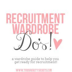 The Sorority Secrets: Recruitment Wardrobe Do's! #TSS #CampusCatawalk #Sorority #Greek #Recruitment #Fashion