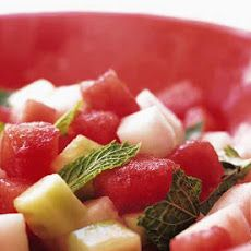 Watermelon, Cucumber, and Jícama Salad Recipe (my Mexico alkaline diet saving grace)