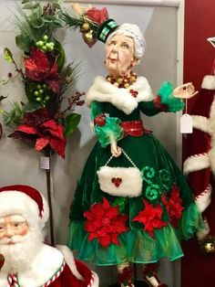 Katherine's Collection Night Before Christmas Collection 6 Ft Life Size Old Lady Doll Free Ship