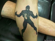 """This tattoo picture """"Black Suit Spiderman Tattoo"""" is one of many tattoo ideas listed in the Comic Book Tattoos category. Feel free to browse other tattoo Top Tattoos, Tattos, Tattoos For Guys, Comic Book Tattoo, Spiderman Tattoo, Black Suits, Picture Tattoos, Tattoo Ideas, Black Outfits"""