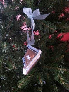 Newborn baby shoe ornament. Write name and birthdate on the bottom. By Shannon Vivero.