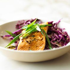 Salmon contains omega-3 fatty acids; red cabbage is rich in antioxidants. Both play a key role in maintaining a healthy heart. And they're delicious when served together for an unforgettable meal.