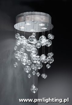 Plafonnier 5 L PM . Basement Bedrooms, Soap Bubbles, Cool Lighting, Lighting Ideas, My Dream Home, Home And Family, Sweet Home, Chandelier, Ceiling Lights