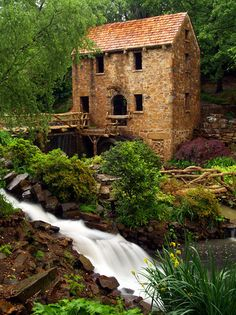 North Little Rock, Arkansas - The Old Mill. This mill was featured in the opening of Gone with the Wind