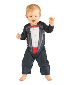Love this Black Tuxedo Playsuit - Infant on #zulily! #zulilyfinds