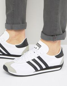 Buy White Adidas originals Sneakers for men at best price. Compare Sneakers prices from online stores like Asos - Wossel Global Adidas Outfit, Adidas Men, Adidas Sneakers, White Adidas Originals, Adidas Country, Zapatillas Casual, Best Watches For Men, Moda Casual, Cycling Outfit