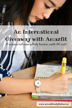 Amazfit Giveaway: 10 Lucky Winners Will Score Activity Trackers! - Sensible Stylista