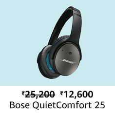 Bose QuietComfort 25 Acoustic Noise Cancelling Headphones for Samsung and Android Devices, Black Noise Cancelling Headphones, Over Ear Headphones, Amazon Sale, Bose, Acoustic, Headset, Samsung, Electronics, Headphones